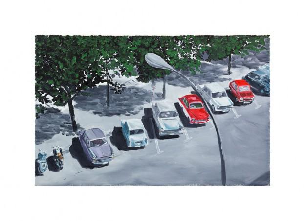 Parkende Autos I